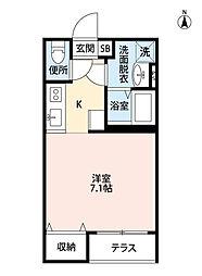 フォレスティ検見川[1階]の間取り