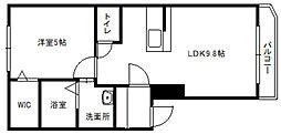 北海道札幌市白石区東札幌一条3丁目の賃貸マンションの間取り