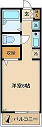 神奈川県川崎市高津区久地3の賃貸アパートの間取り