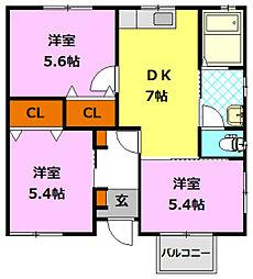 [一戸建] 茨城県筑西市下中山 の賃貸【/】の間取り