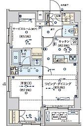 ジェノヴィア東日本橋駅前グリーンヴェール[15階]の間取り
