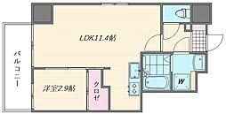 ウインステージ箱崎Ⅱ[11階]の間取り