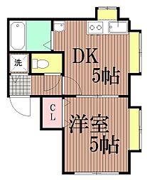 東京都大田区山王2丁目の賃貸マンションの間取り