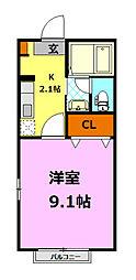 ルーチェA(シャーメゾン)[2階]の間取り