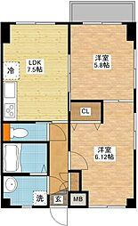 ガーデン桜坂[1階]の間取り