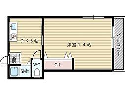 安田マンション[2階]の間取り