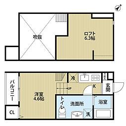 埼玉県さいたま市西区三橋6の賃貸アパートの間取り