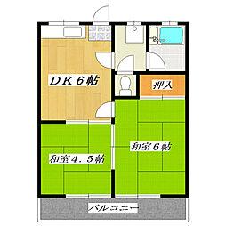 東京都葛飾区新小岩3丁目の賃貸アパートの間取り