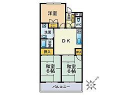 リリナ片江[305号室]の間取り