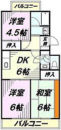 埼玉県所沢市小手指町4丁目の賃貸マンションの間取り
