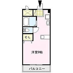 ピュアハウス[402号室]の間取り