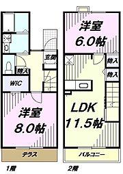 JR青梅線 福生駅 徒歩14分の賃貸テラスハウス