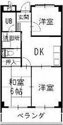 愛知県小牧市常普請2丁目の賃貸マンションの間取り