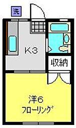 ハイツヨネカワ[204号室]の間取り