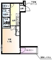 Osaka Metro御堂筋線 新金岡駅 徒歩10分の賃貸アパート 3階1Kの間取り