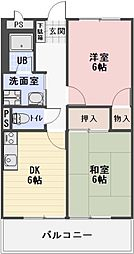 静岡県掛川市大池の賃貸アパートの間取り