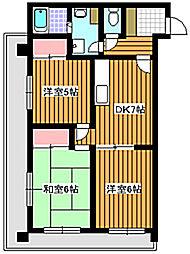 ピュアロイヤル[4階]の間取り