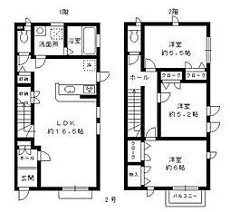 [タウンハウス] 福岡県福岡市中央区谷1丁目 の賃貸【/】の間取り