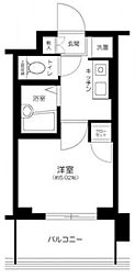 シティタワー武蔵小山 レジデンス棟 5階1Kの間取り