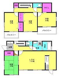 [一戸建] 兵庫県三木市福井3丁目 の賃貸【/】の間取り