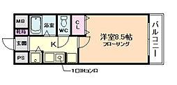 M&Mウメダイースト[3階]の間取り