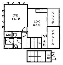 イズ・ステージI[2階]の間取り