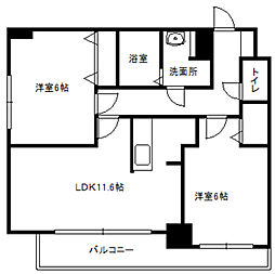 LEE SPACE栄通[2階]の間取り