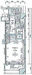 コンシェリア南麻布PLATINUM SQUARE 5階1Kの間取り