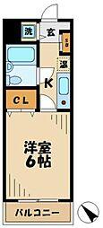 東京都多摩市永山1丁目の賃貸マンションの間取り