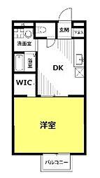 埼玉県さいたま市見沼区大字蓮沼の賃貸アパートの間取り