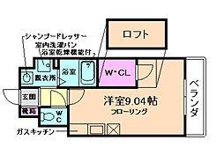 ZONE 1/f PART5(ゾーン)[3階]の間取り