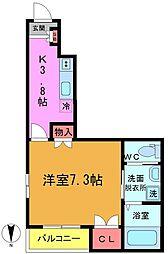 仮)八幡3丁目メゾン[202号室]の間取り