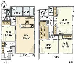 [一戸建] 神奈川県海老名市河原口5丁目 の賃貸【/】の間取り