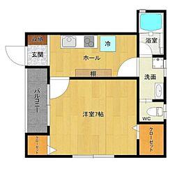 Mi Casa 1階1Kの間取り