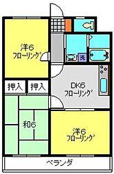 神奈川県横浜市戸塚区名瀬町の賃貸マンションの間取り