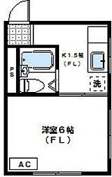 東京都三鷹市北野4丁目の賃貸マンションの間取り