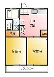 第1藤野マンション[1階]の間取り