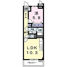 Osaka Metro御堂筋線 新金岡駅 徒歩8分の賃貸マンション 3階1LDKの間取り