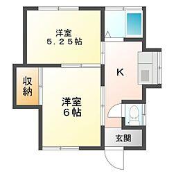 本間 借家[1階]の間取り