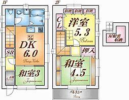 [一戸建] 兵庫県神戸市須磨区戸政町3丁目 の賃貸【/】の間取り