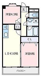 フォーレスト司[4階]の間取り