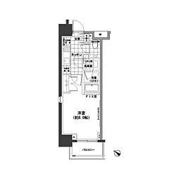 東京メトロ日比谷線 小伝馬町駅 徒歩4分の賃貸マンション 11階1Kの間取り