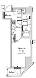 クレセント虎ノ門新橋 11階1Kの間取り