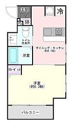 エステムプラザ飯田橋タワーレジデンス 6階1DKの間取り