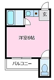 船井コーポ[3階]の間取り