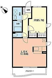 ラウレール[2階]の間取り