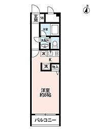 フローリアT[3階]の間取り