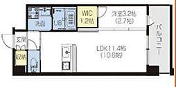 PHOENIX Clove Tomoi 6階1LDKの間取り