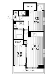 東京都練馬区高松1丁目の賃貸マンションの間取り