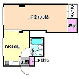 磯島スターハイツ[1階]の間取り
